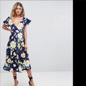Boohoo Midi floral dress